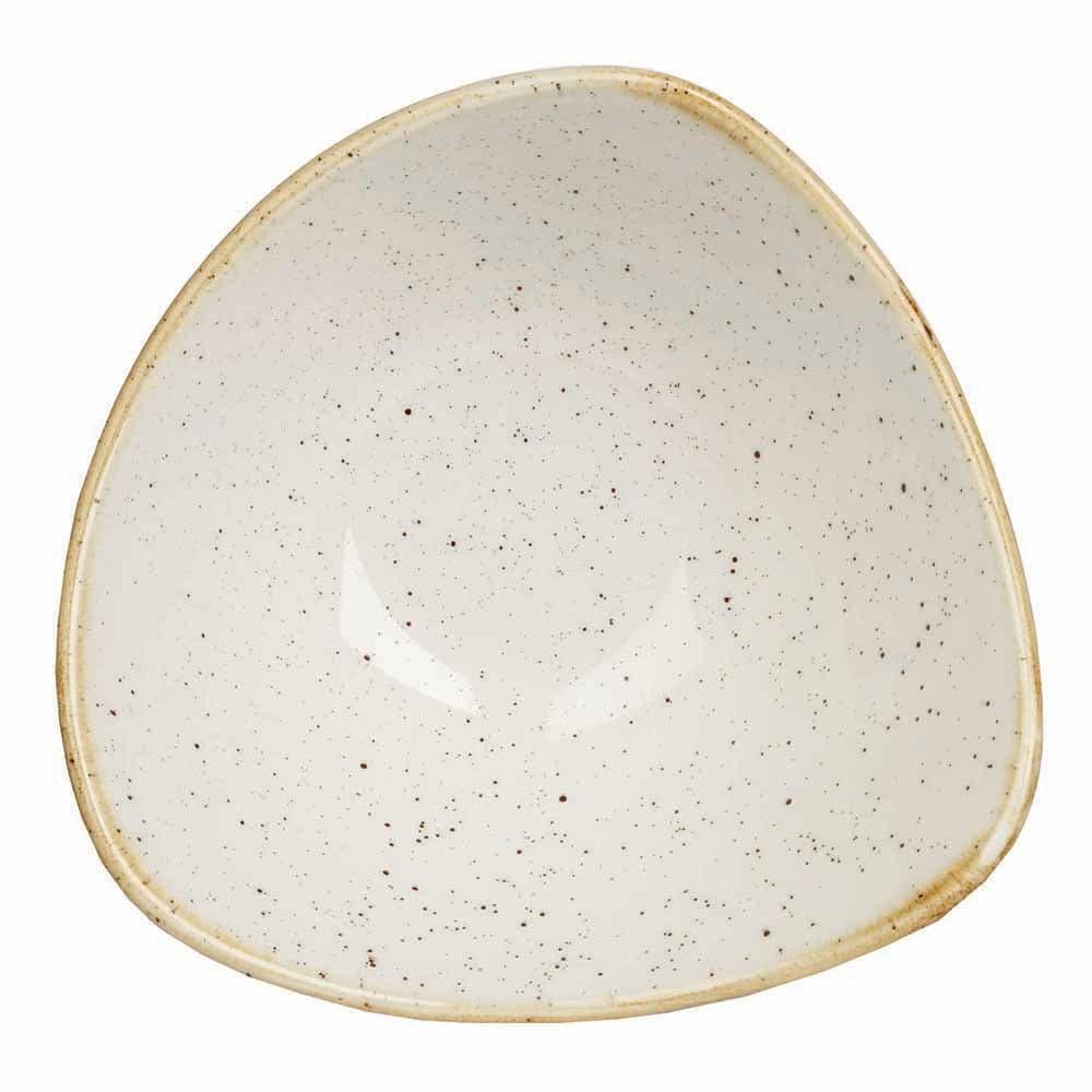 Churchill SWHSTRB61 9-oz Triangular Stonecast Bowl - Ceramic, Barley White