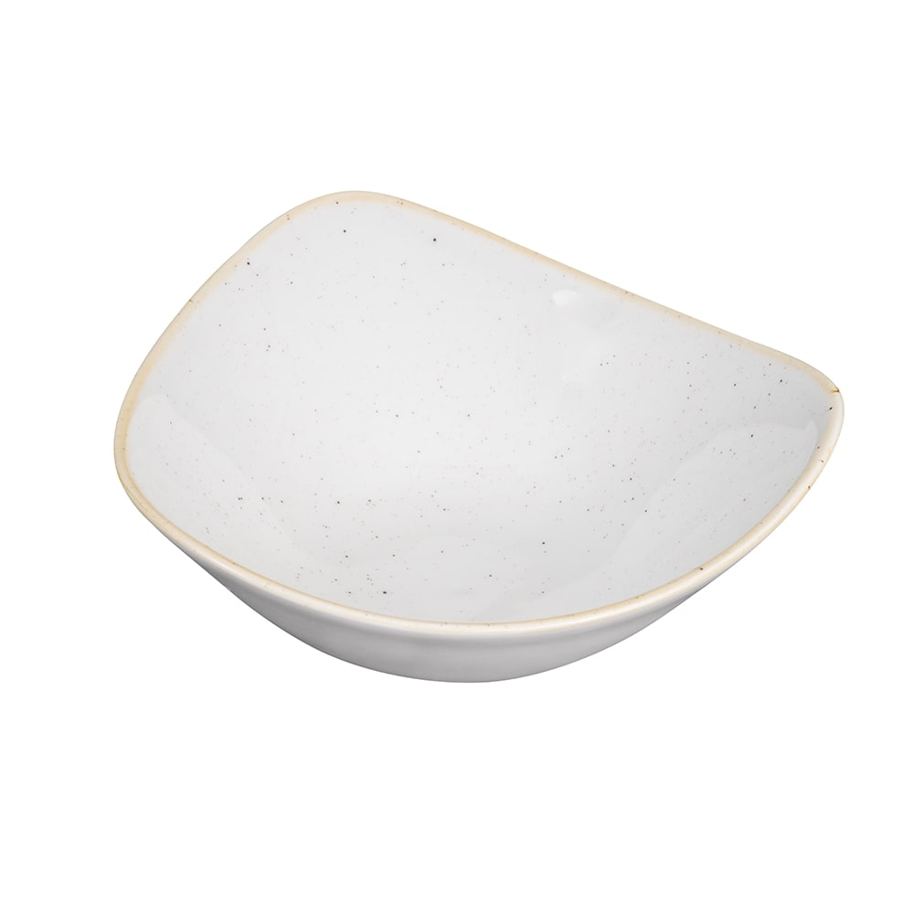 Churchill SWHSTRB71 13-oz Triangular Stonecast Bowl - Ceramic, Barley White