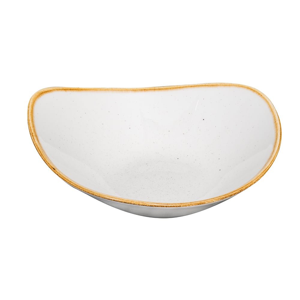 Churchill SWHSTRB91 21 oz Triangular Stonecast Bowl - Ceramic, Barley White