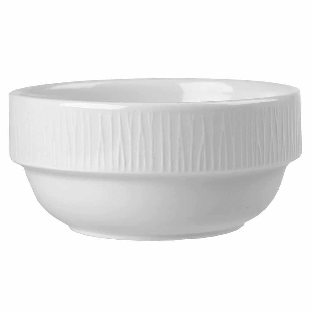 Churchill WHBALB141 13.3-oz Bamboo Bowl - Ceramic, White