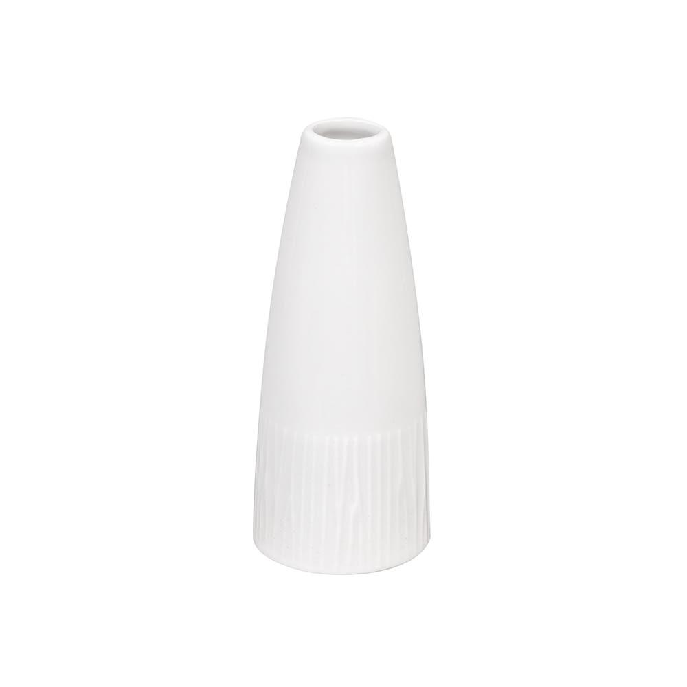 "Churchill WHBALBV1 5"" Bamboo Bud Vase - Ceramic, White"
