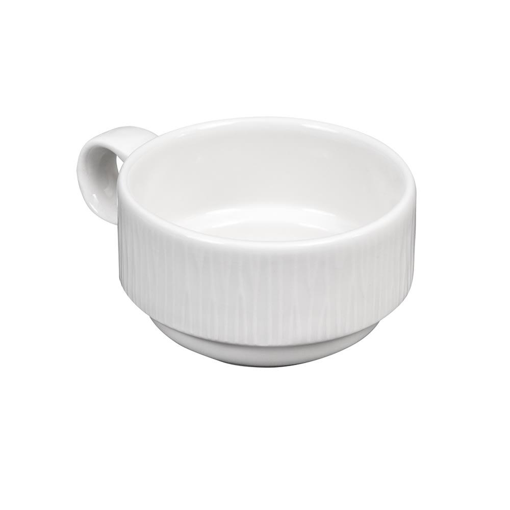 Churchill WHBALC161 5.6 oz Bamboo Cup - Ceramic, White