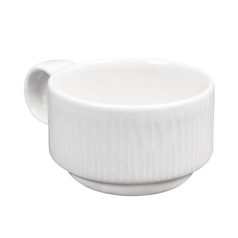 Churchill WHBALC91 3-oz Bamboo Cup - Ceramic, White