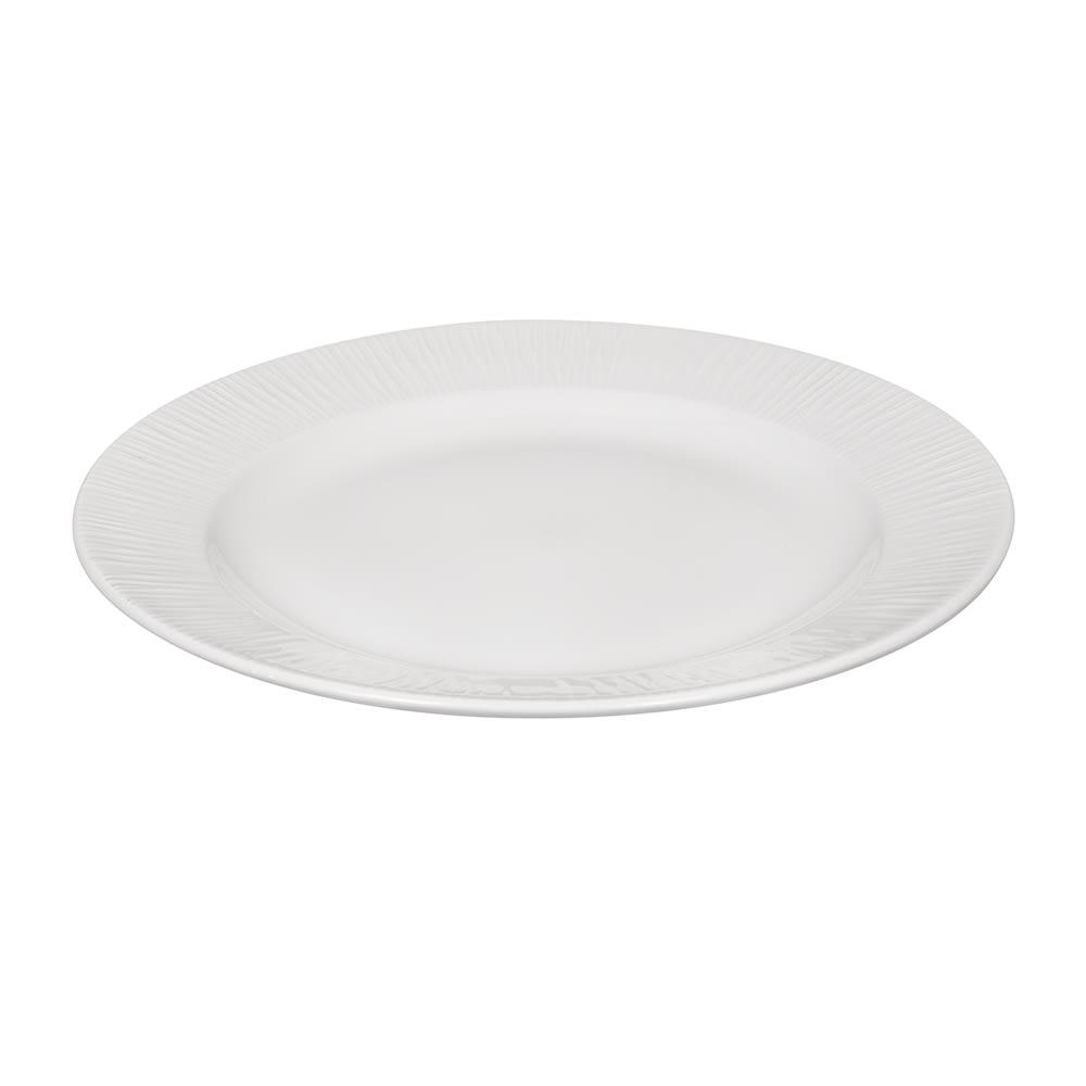 """Churchill WHBALF581 10.87"""" Round Bamboo Plate - Ceramic, White"""