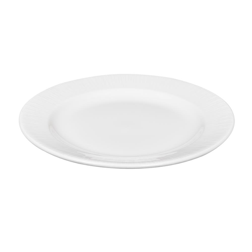 """Churchill WHBALF91 9.13"""" Round Bamboo Plate - Ceramic, White"""