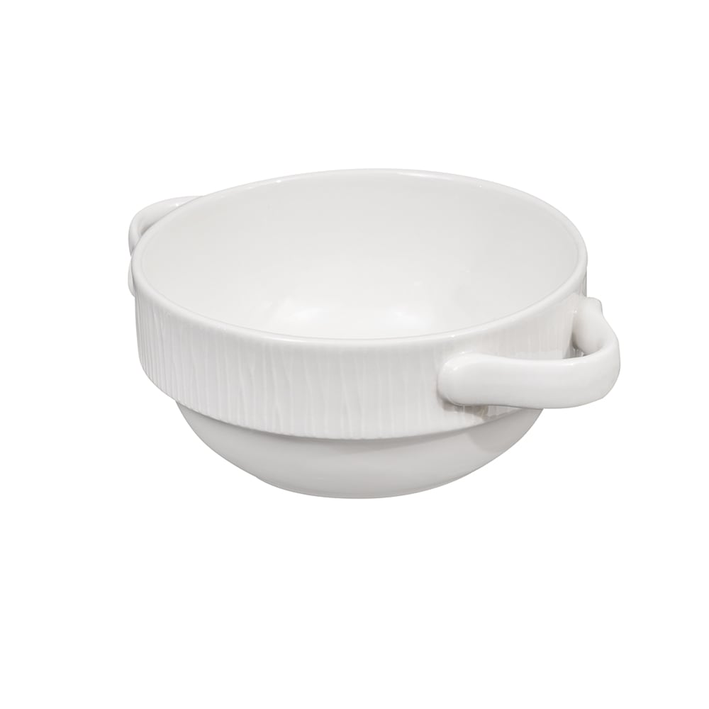 Churchill WHBALH141 13.3 oz Bamboo Bowl - Ceramic, White