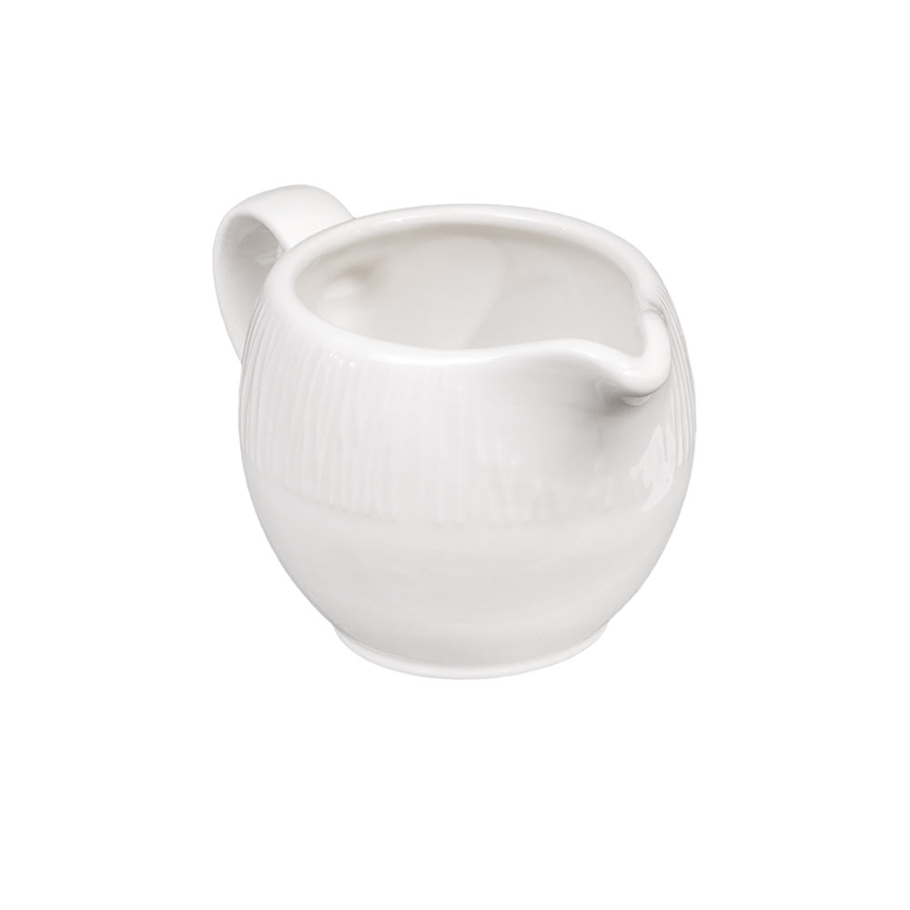 Churchill WHBALJ41 4 oz Bamboo Creamer - Ceramic, White