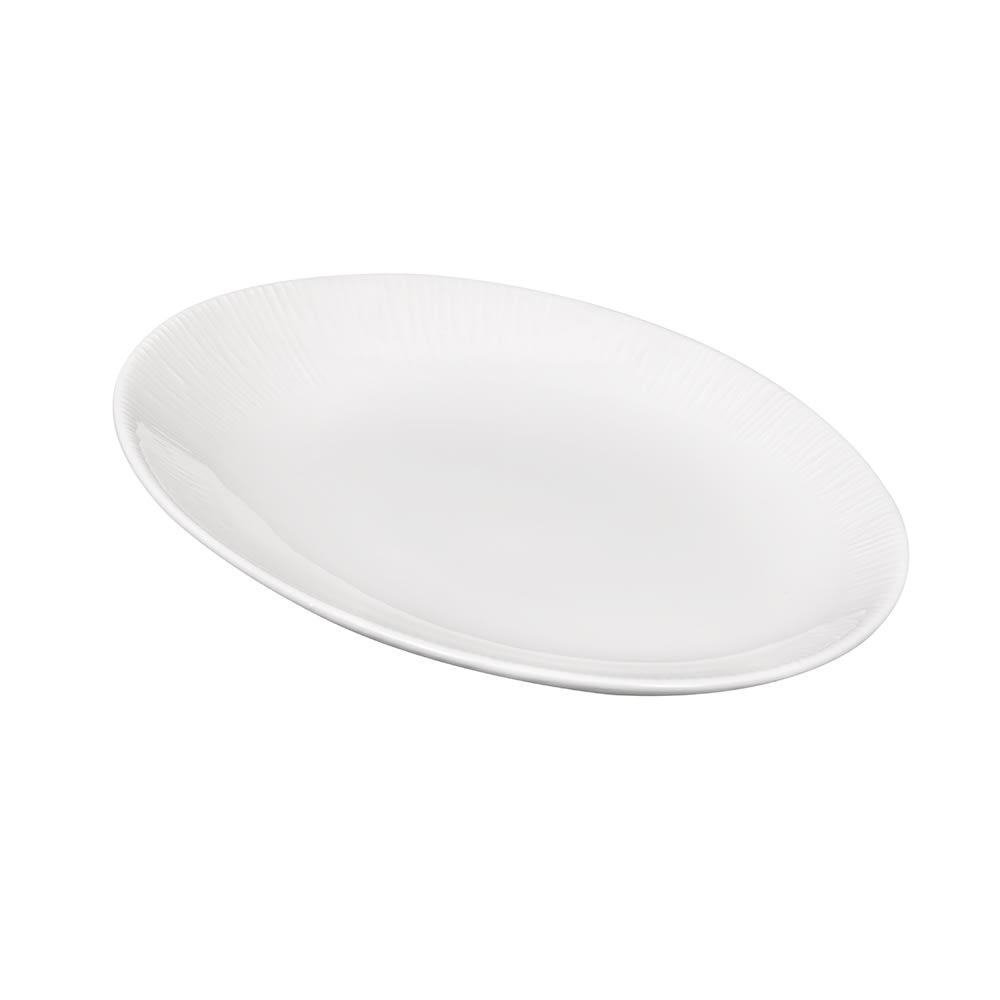 """Churchill WHBALO101 Rectangular Bamboo Plate - 9.5"""" x 7.5"""", Ceramic, White"""