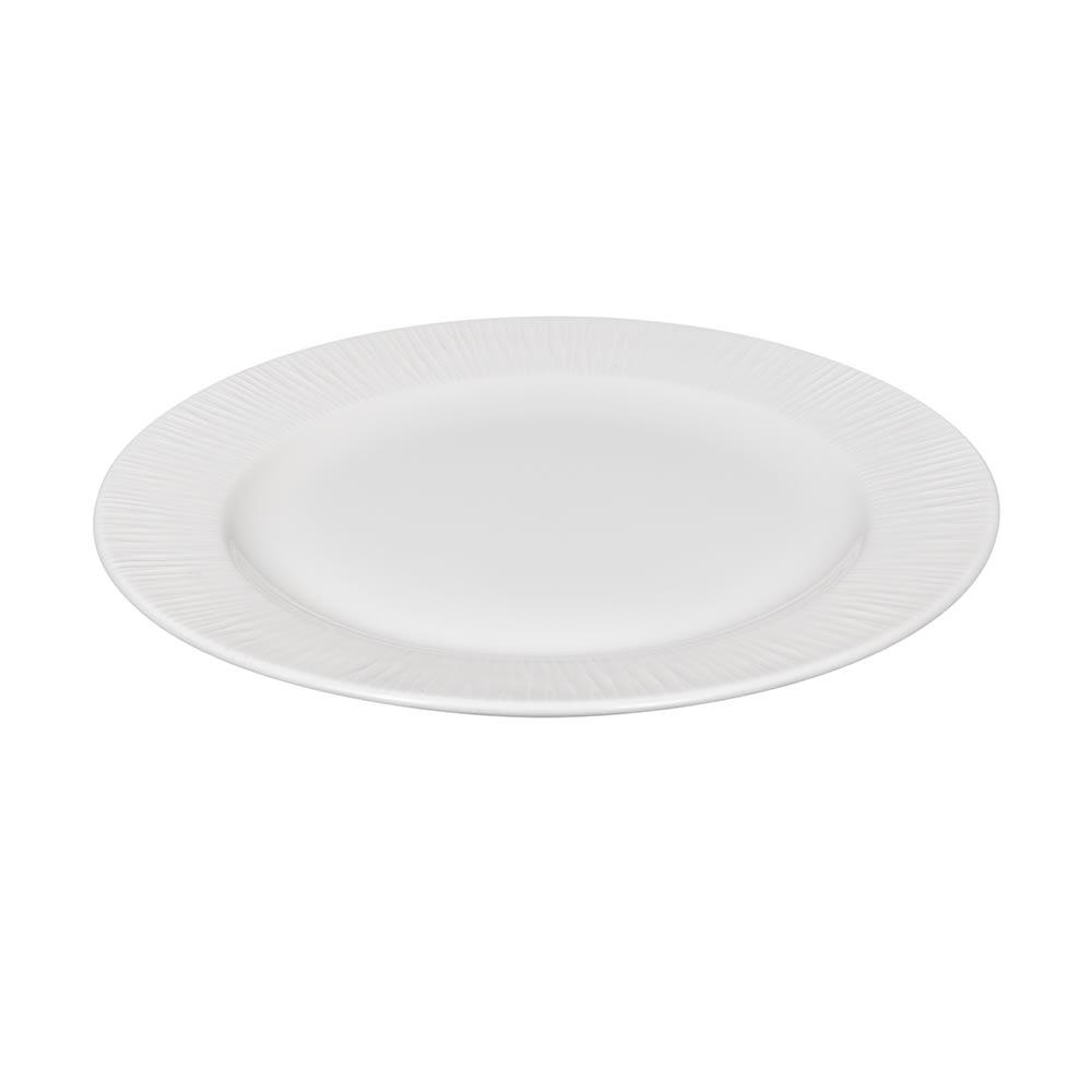 """Churchill WHBALP101 10.25"""" Round Bamboo Plate - Ceramic, White"""