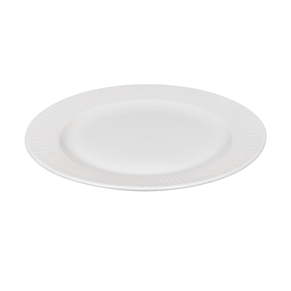"""Churchill WHBALP111 12"""" Round Bamboo Plate - Ceramic, White"""