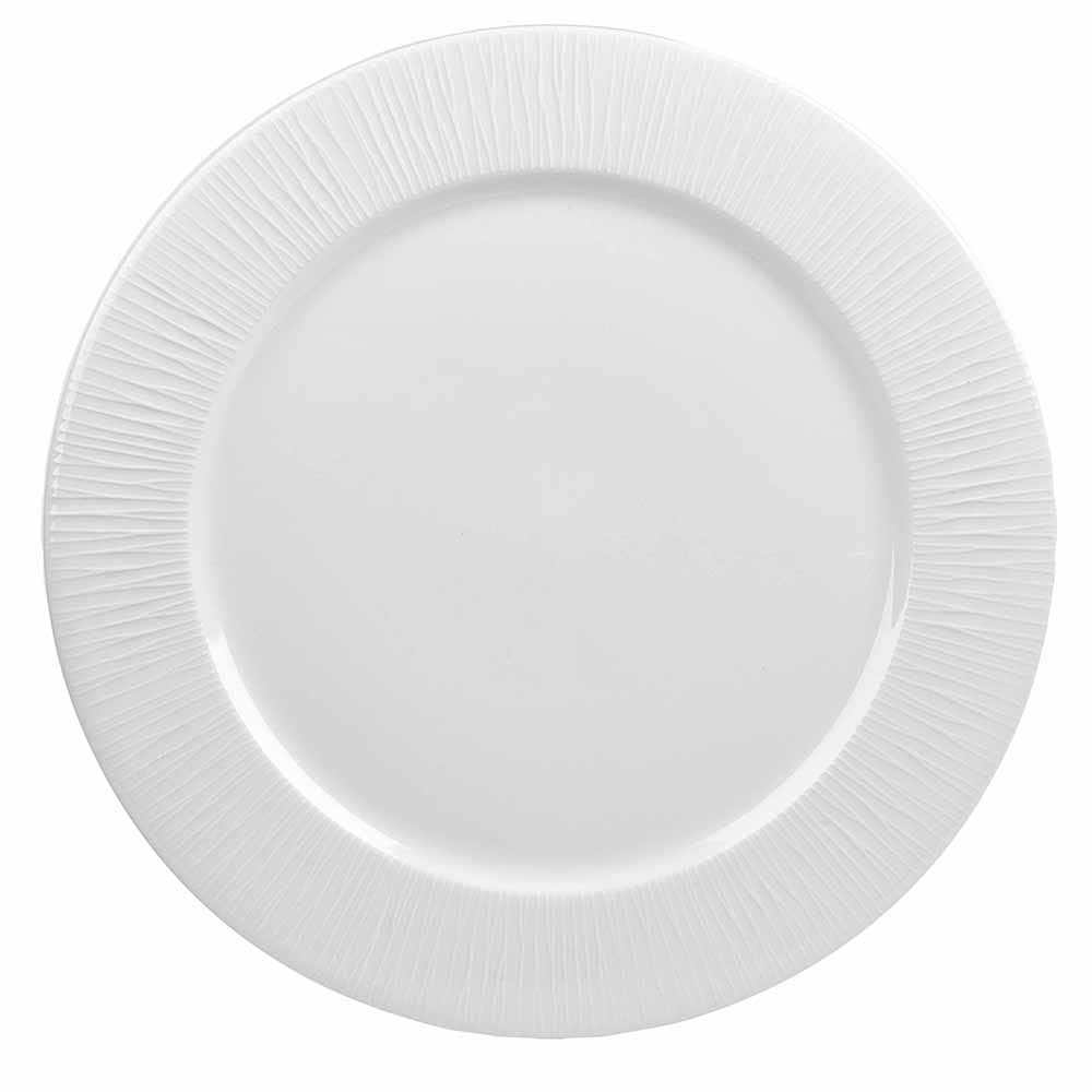 "Churchill WHBALP581 10.87"" Round Bamboo Plate - Ceramic, White"