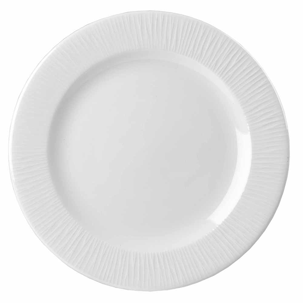 "Churchill WHBALP651 6.63"" Round Bamboo Plate - Ceramic, White"