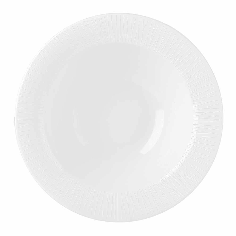 Churchill WHBALPOB1 9-oz Bamboo Oatmeal Bowl - Ceramic, White