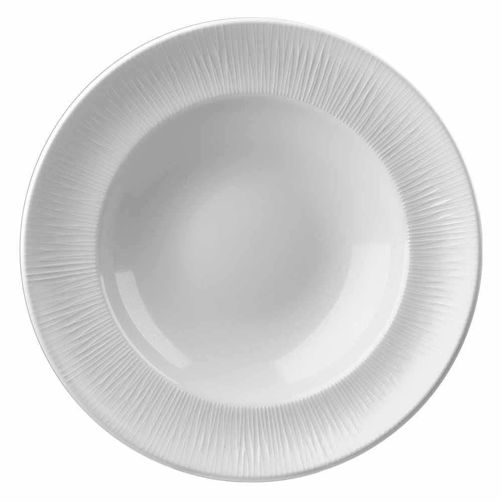 Churchill WHBALRPP1 21-oz Bamboo Pasta Bowl - Ceramic, White