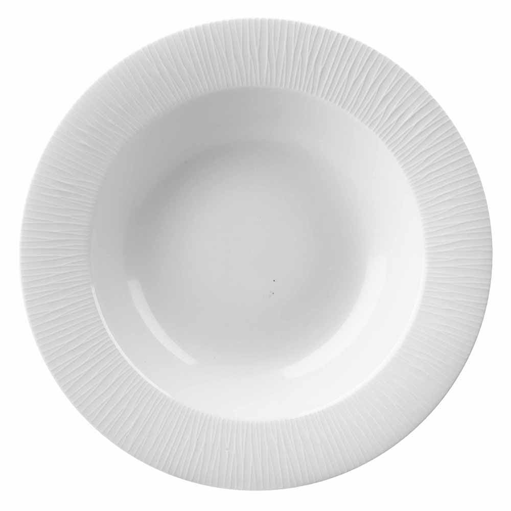 Churchill WHBALRSB1 17.5-oz Bamboo Bowl - Ceramic, White