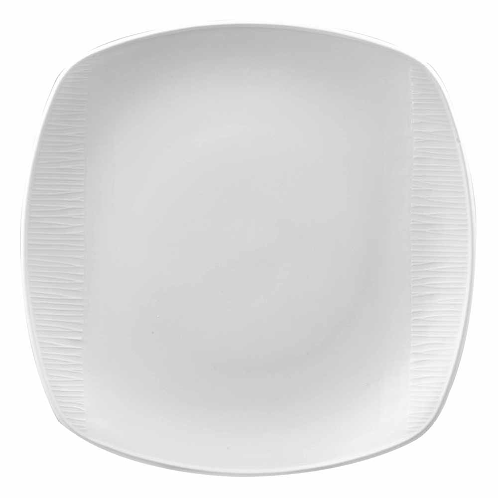 "Churchill WHBALS111 10"" Square Bamboo Plate - Ceramic, White"
