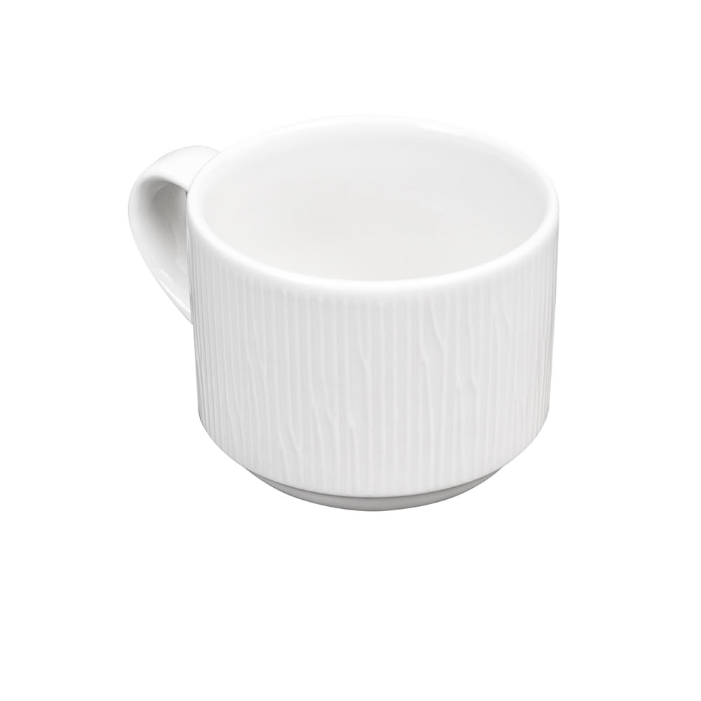 Churchill WHBALSC81 8-oz Bamboo Cup - Ceramic, White