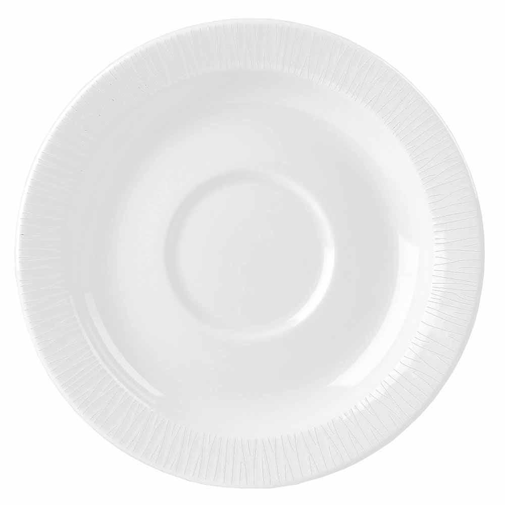 """Churchill WHBALSM1 5.87"""" Bamboo Saucer - Ceramic, White"""