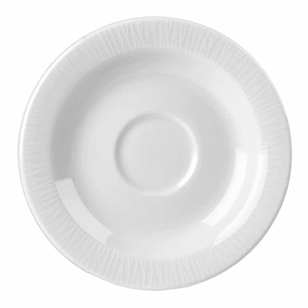 """Churchill WHBALSS1 5.17"""" Bamboo Saucer - Ceramic, White"""