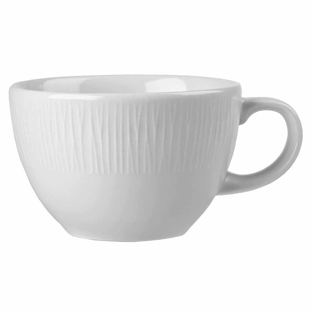 Churchill WHBALT81 8-oz Bamboo Tea Cup - Ceramic, White