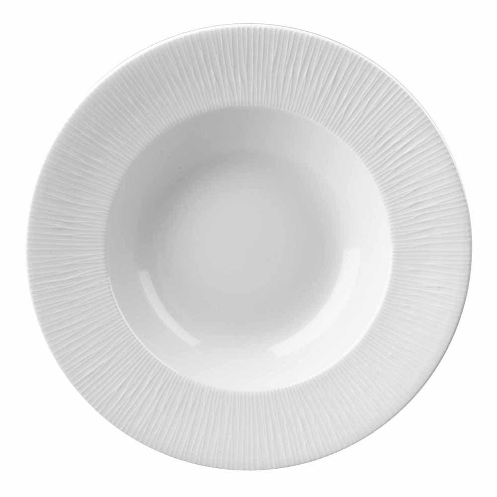Churchill WHBALWBS1 6-oz Bamboo Bowl - Ceramic, White