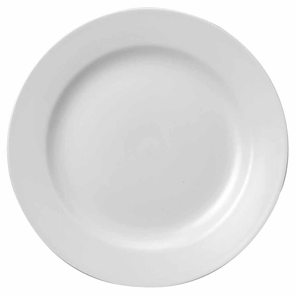 "Churchill WHCP101 10"" Round Classic Plate - Ceramic, White"