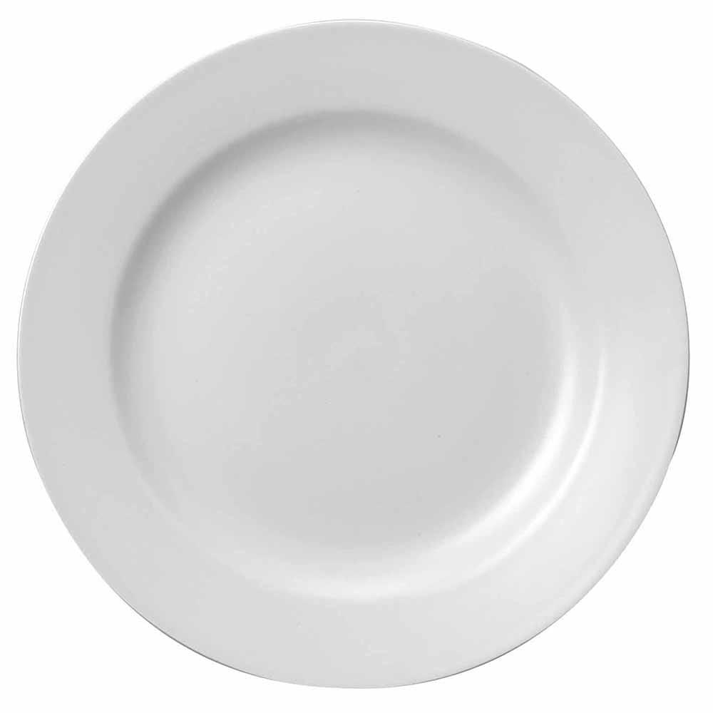 """Churchill WHCP81 8"""" Round Classic Plate - Ceramic, White"""