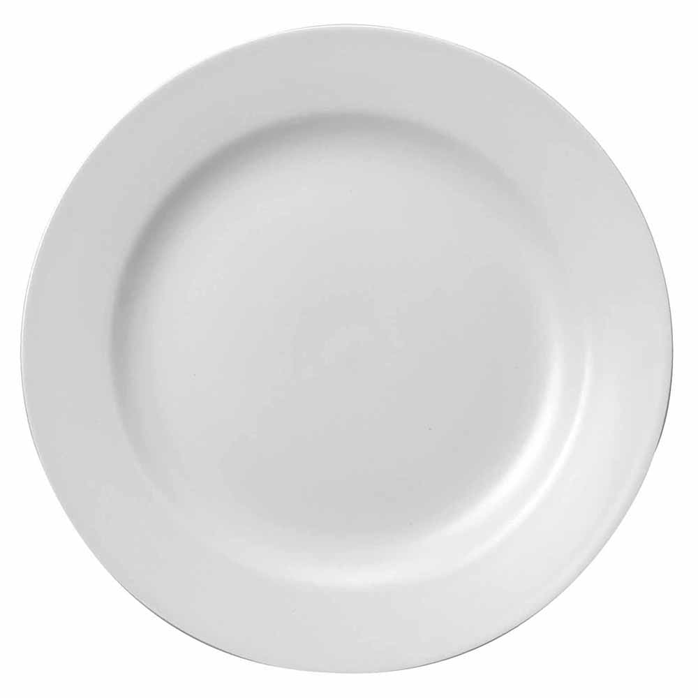 "Churchill WHCP91 9"" Round Classic Plate - Ceramic, White"
