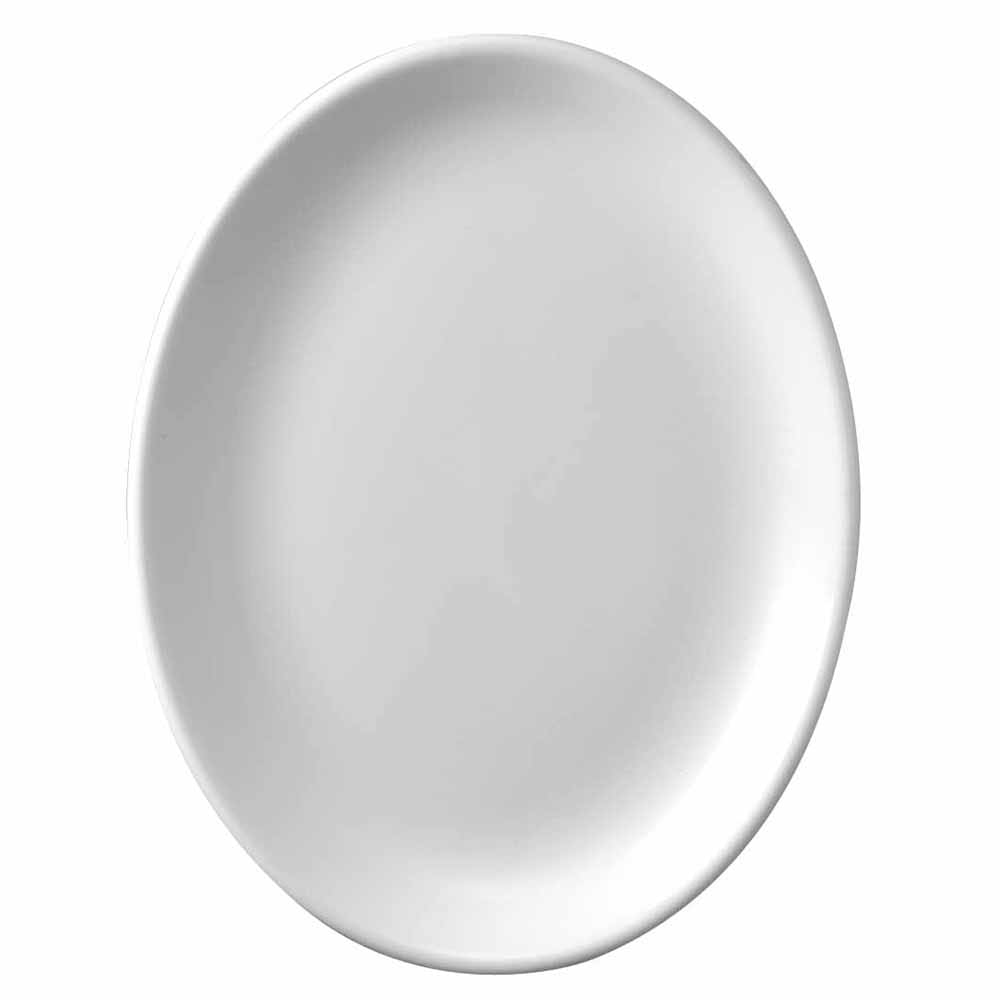 "Churchill WHD101 10"" Oval Platter - Ceramic, White"