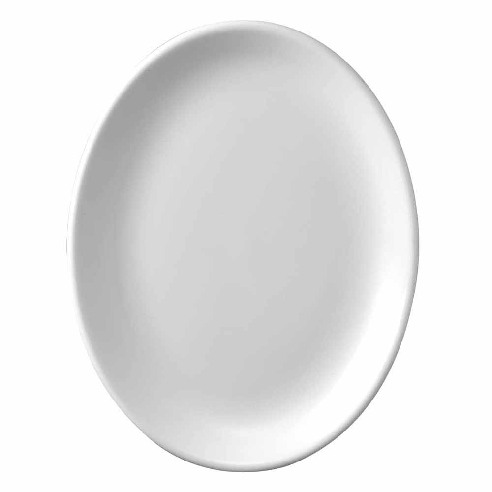 "Churchill WHD121 12"" Oval Platter - Ceramic, White"