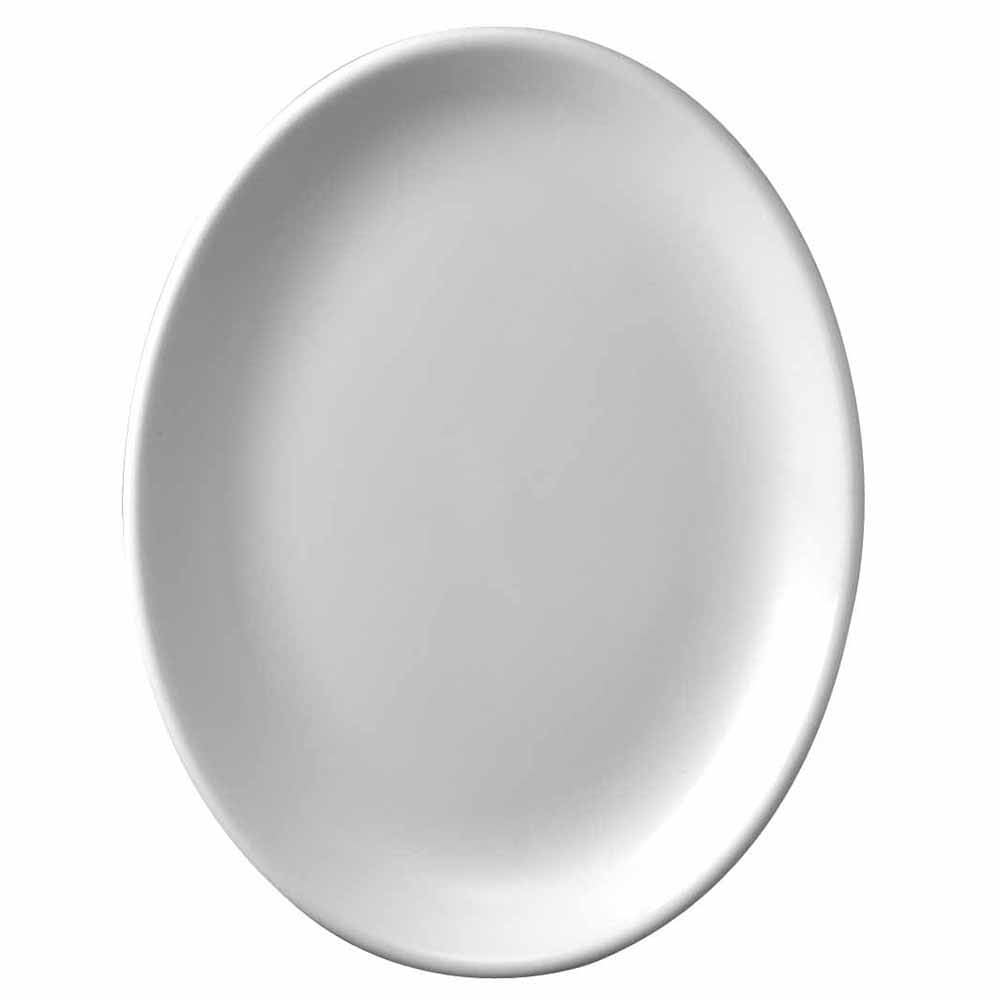 "Churchill WHD141 14.25"" Oval Platter - Ceramic, White"