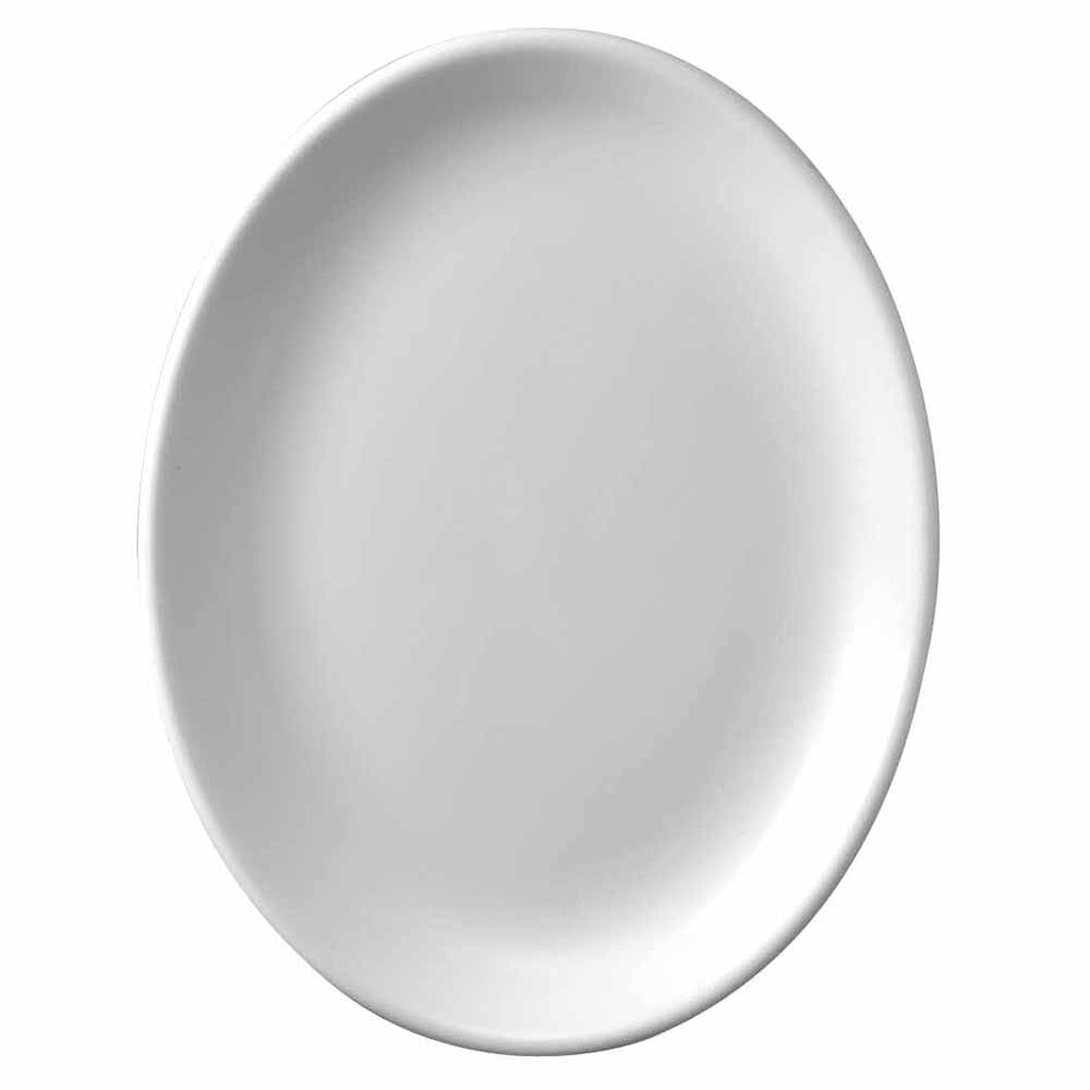 "Churchill WHD81 8"" Oval Platter - Ceramic, White"