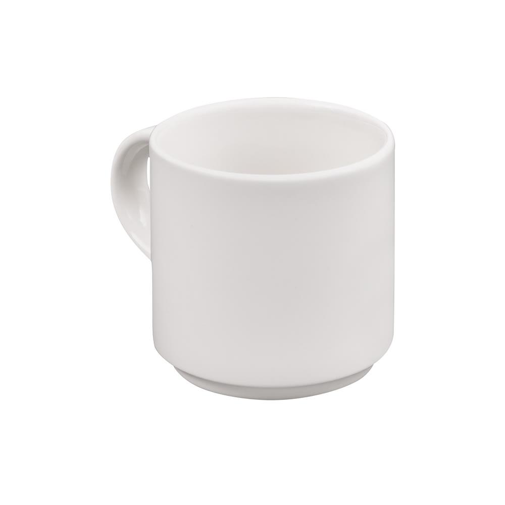 Churchill WHFT101 10 oz Compact Breakfast Cup - Ceramic, White