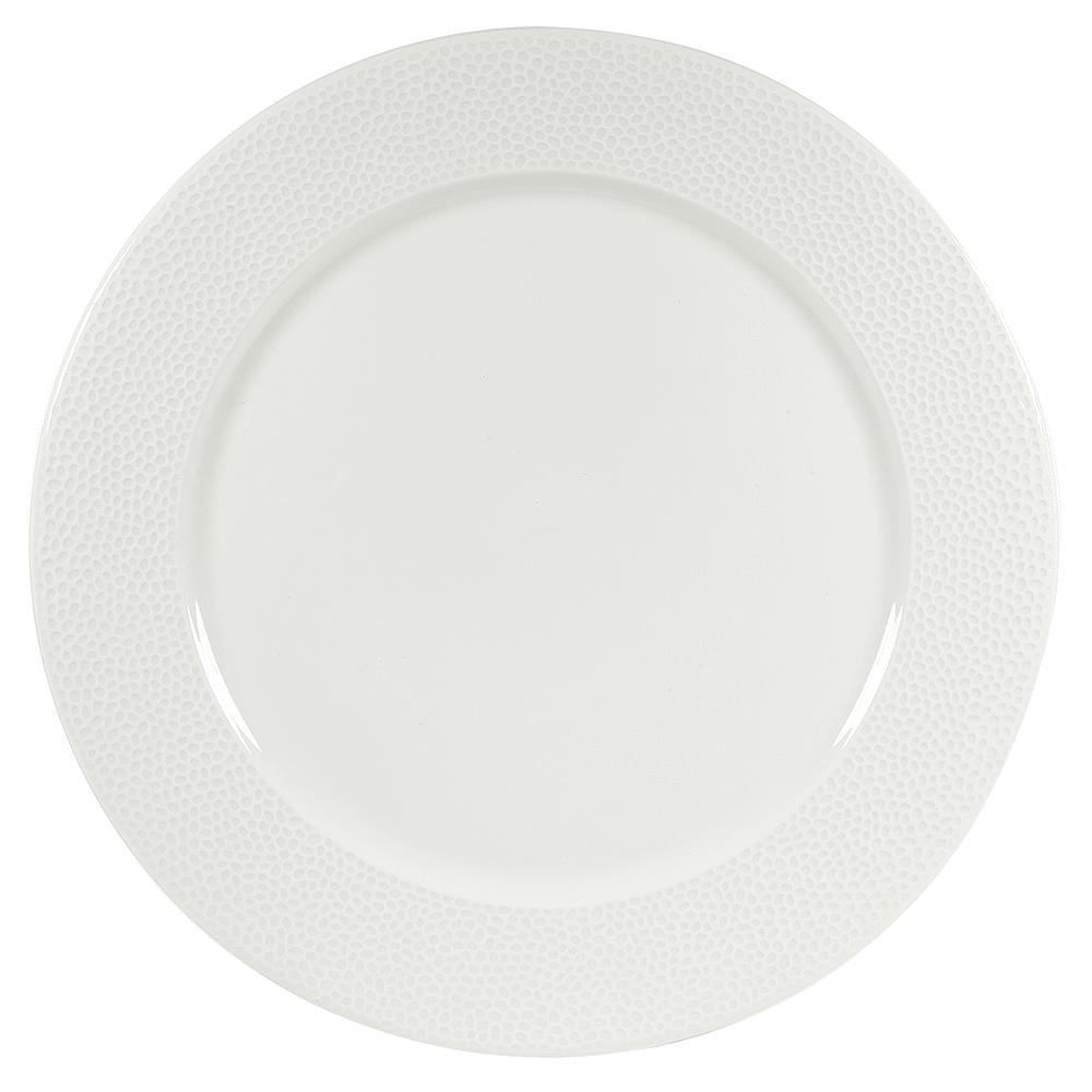 """Churchill WHISIP121 12"""" Round Dinner Plate - China, White"""