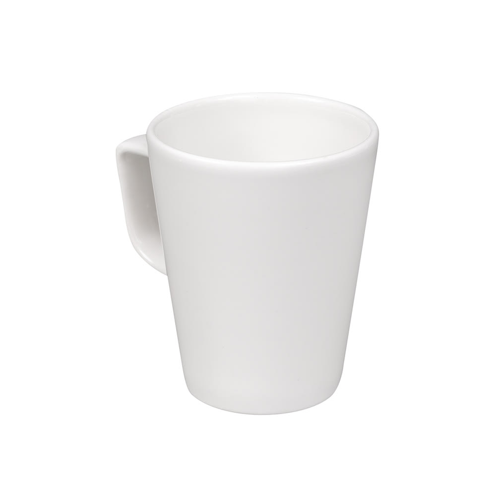 Churchill WHML101 10 oz Beverage Cafv© Latte Mug - Ceramic, White