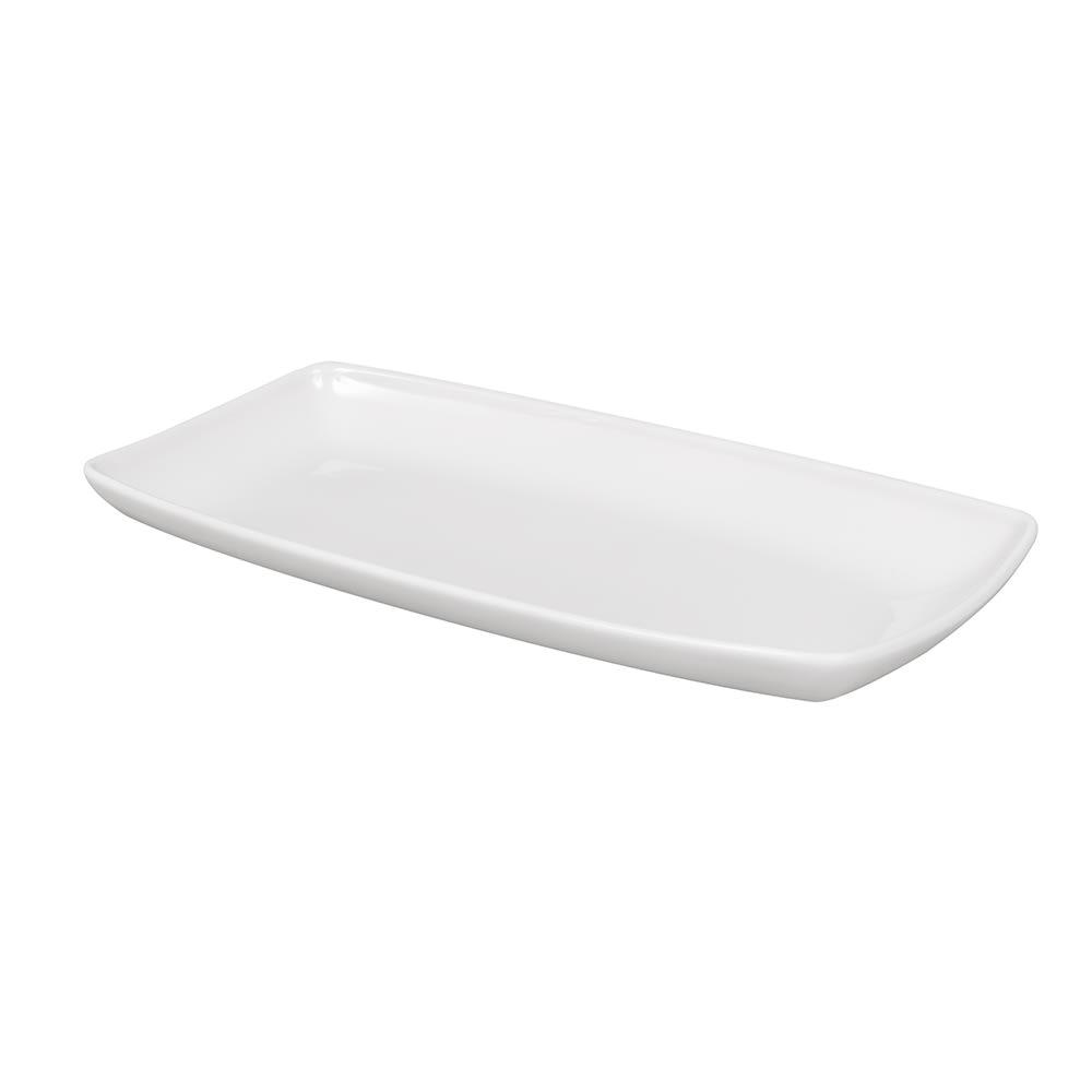 "Churchill WHOP141 Rectangular X Squared Plate - 14"" x 7.25"", Ceramic, White"