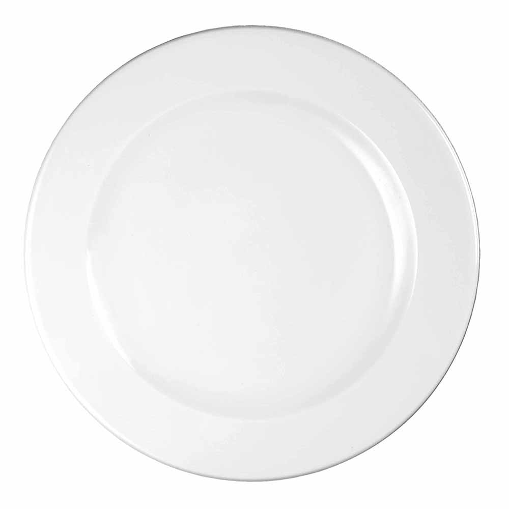 "Churchill WHVF111 12"" Round Profile Plate - Ceramic, White"