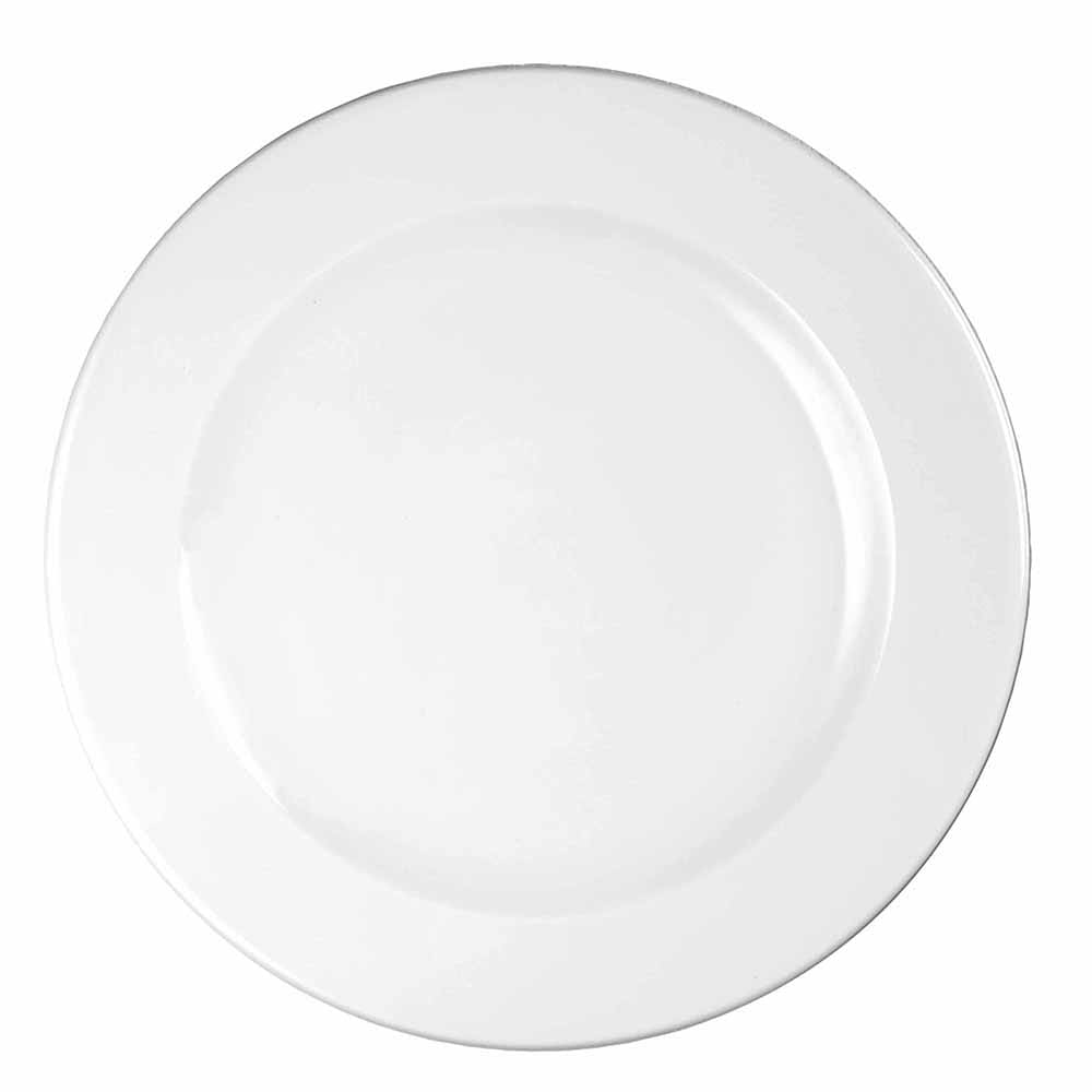 "Churchill WHVF91 9.13"" Round Profile Plate - Ceramic, White"