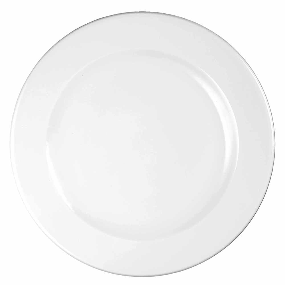 "Churchill WHVP111 12"" Round Profile Plate - Ceramic, White"