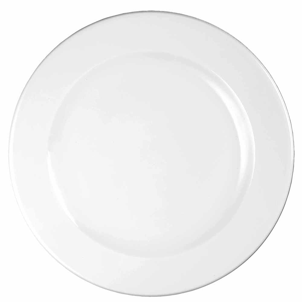 "Churchill WHVP81 8.25"" Round Profile Plate - Ceramic, White"