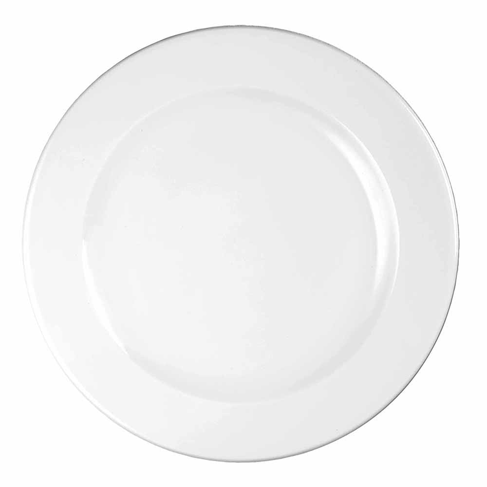 "Churchill WHVP91 9"" Round Profile Plate - Ceramic, White"