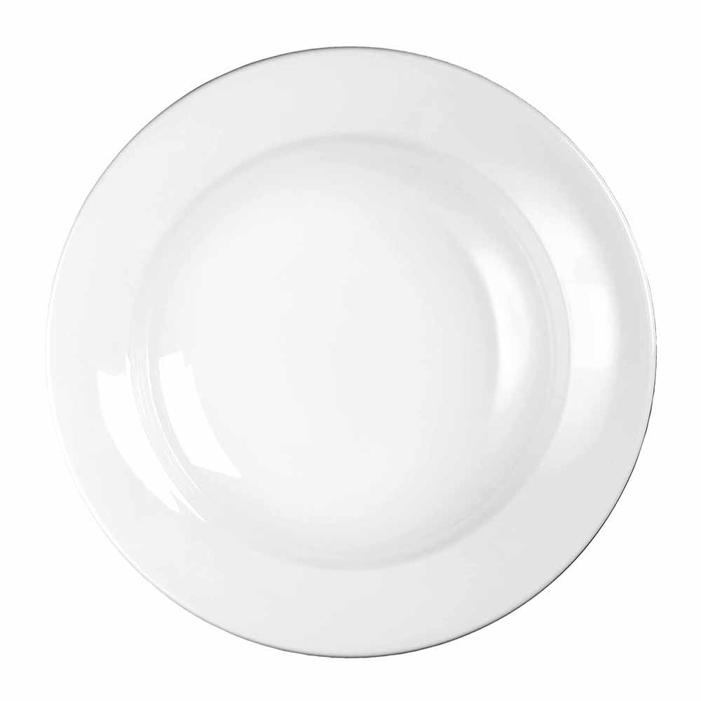 "Churchill WHVPPB1 12.13"" Round Profile Pasta Plate - Ceramic, White"