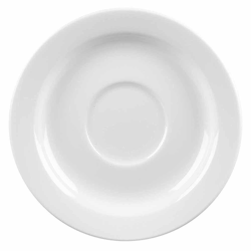 """Churchill WHVSM1 5.87"""" Profile Saucer - Ceramic, White"""