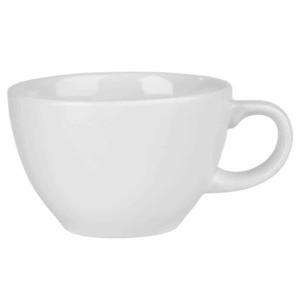 Churchill WHVT81 8-oz Profile Tea Cup - Ceramic, White