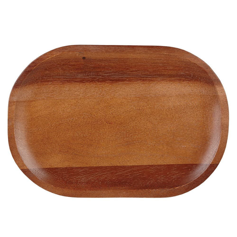 "Churchill ZCAWLMBD1 Oval Alchemy® Buffet Plate - 11.5"" x 7.87"", Wood"