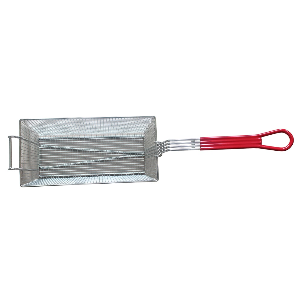 """eQuipped 400039 Fryer Basket w/ Coated Handle & Front Hook, 17.5"""" x 9.25"""" x 6"""""""