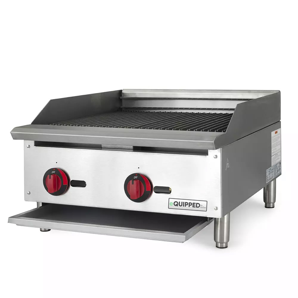 "eQuipped BR24 24"" Gas Charbroiler w/ Cast Iron Grates, NG"
