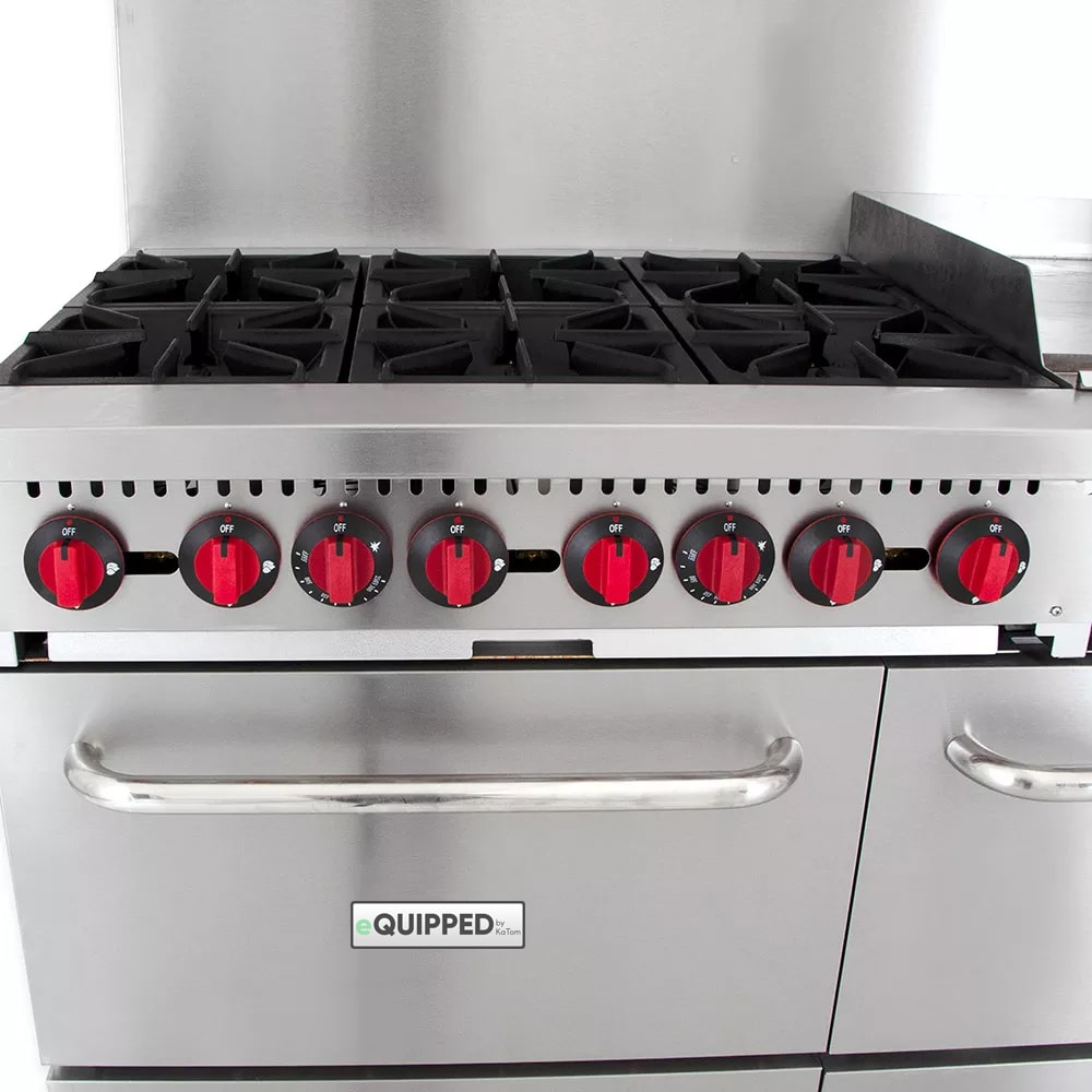 "eQuipped R10-G24 60"" 6 Burner Gas Range w/ Griddle, NG"