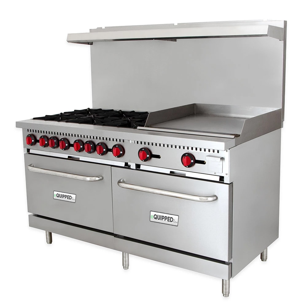 "eQuipped R10-G24 60"" 6 Burner Gas Range w/ Griddle, LP"