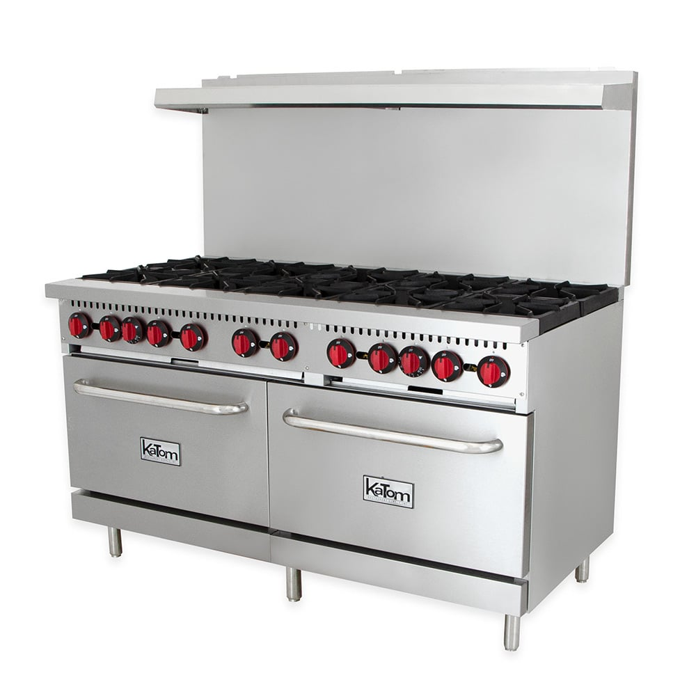 "eQuipped R10 60"" 10 Burner Gas Range w/ (2) Standard Ovens, LP"